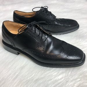 Rockport Dressports Black Leather Wing Tip Shoes
